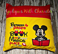 Mickey Mouse with Book Applique Design