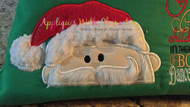 Santa Peeker Applique Design