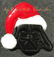 Darth Star Wars with Santa Hat Applique Design