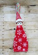 Elf on the Shelf Girl Peeker Applique Design