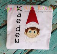 Boy Elf on the Shelf Applique Design