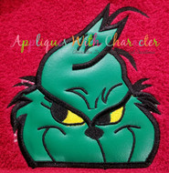Grinch Peeker Applique Design