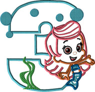 Bubble Guppies Molly THREE Applique Design