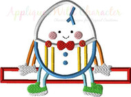 Humpty Dumpty Nursery Rhyme Applique Design
