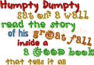 Humpty Dumpty Book Saying