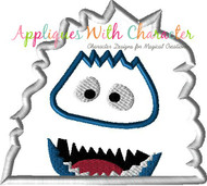 Rudpolph Abominable Snowman Peeker Applique Design