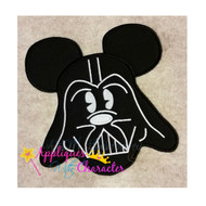 Mickie Darth Vader Applique Design