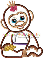 FurReal Monkey Applique Design