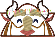 Beast Peeker Applique Design