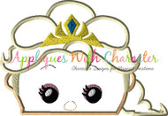 Elsa Tsum Tsum Applique Design