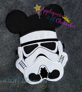 Mickie Storm Trooper Star Fight Applique Design