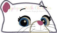 Paw Callie Cat Peeker Applique Design