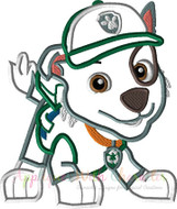 Paw Patrol Rocky Applique Design