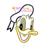 Donild Duck Face Applique Design