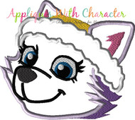 Paw Callie Full Face Cat Applique Design