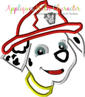 Paw Marshill Pup Full Face Applique Design