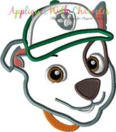 Paw Patrol Rocky Full Face Applique Design