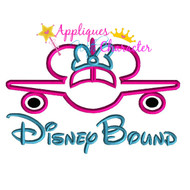 Disney Bound Minnie Airplane Saying Applique Design