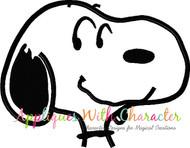 Peanuts Snoopy Bust Applique Design