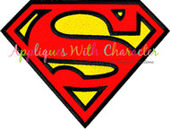 Superman Filled Stitch Embroidery Design