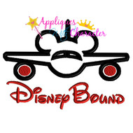 Disney Bound Mickey Airplane Saying  Applique Design