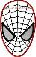 Spiderman Face Applique Design