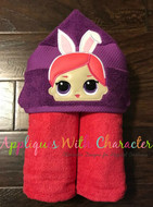 LOL Bunny Peeker Doll Applique Design