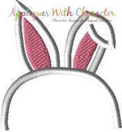 Bunny Ears Headband Applique Design