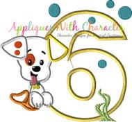 Bubble Guppies Puppy SIX Applique Design
