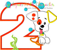 Bubble Guppies Puppy TWO Applique Design