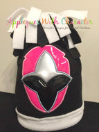 Power Rangers Ninja Steel Pink Applique Design