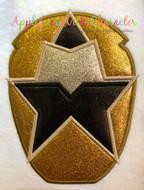 Rangers Ninja Steel Gold Applique Design