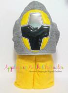 Rangers Ninja Steel Yellow Applique Design