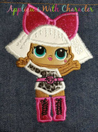 LOL Diva Doll Applique Design