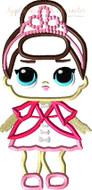 LOL Fancy Doll Applique Design