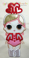 LOL Valentines Doll Applique Design