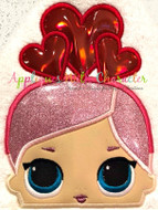 LOL Valentines Doll Peeker Applique Design
