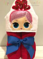 LOL Valentines Doll Peeker Applique Design