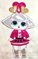 LOL Hearts Doll Applique Design