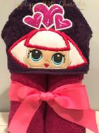 LOL Hearts Doll Peeker Applique Design