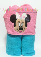 Minnie Mouse with Bunny Ears Applique Design