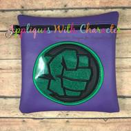 Hulk Fist Symbol Applique Design