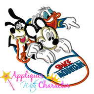 Space Mountain Ride  Applique Design
