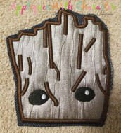 Baby Groot Peeker Guardians of the Galaxy Applique Design