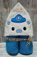 Octonauts Captain Barnacles Peeker  Applique Design