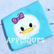 Daizy Duck Tsum Tsum Applique Design