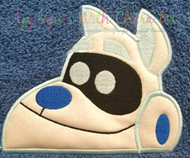 Puppy Friends Arf Peeker Applique Design
