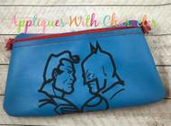Batman Superman Silhouette Embroidery Design