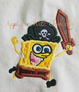 Spongebob Squarepants Pirate Applique Design