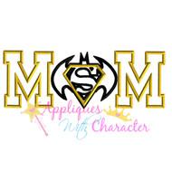 Superman Batman Mom Applique Design